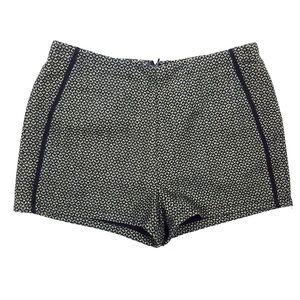 NWT Lush Green Tweed Piped Shorts